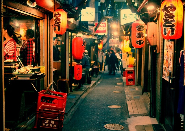 Shinjuku's kind of the party district, though that may be because of Kabukicho (northeast of Shinjuku Station) which is Tokyo's big red light district. If you're into nightclubs, bars, pachinko, neon, and other *ahem* things, this will be a place you'll enjoy.