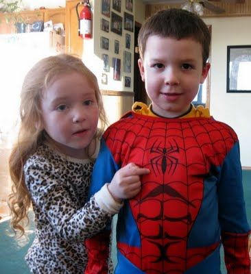 """You've got to like a girl to who arrives for a play date on a snow machine and lets Owen wear her Spiderman costume while she plays as """"his ..."""