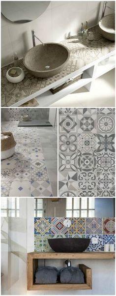 oltre 25 fantastiche idee su bagni su pinterest | sale da bagno ... - Arredo Bagno Piastrelle