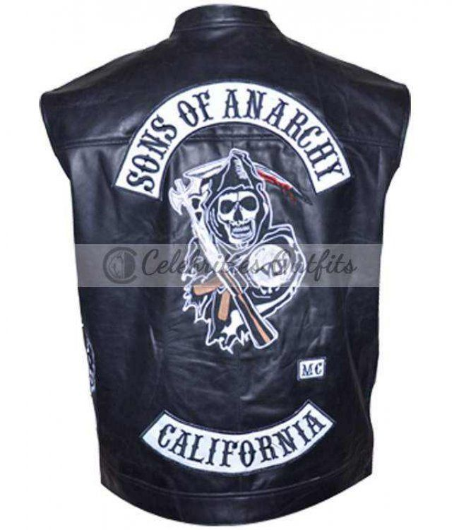 Sons Of Anarchy Soa Replica Jax Teller Vest Leather Jacket Leather Jackets For Sale Riding Vest Sons Of Anarchy
