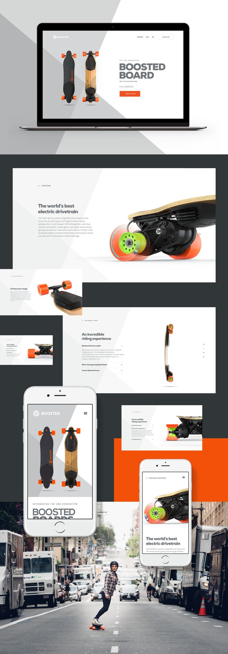 Boosted Board Web Site | Abduzeedo Design Inspiration
