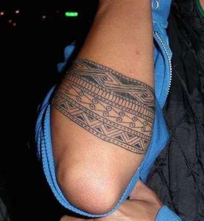 Polynesian Armband Tattoo On Right Arm
