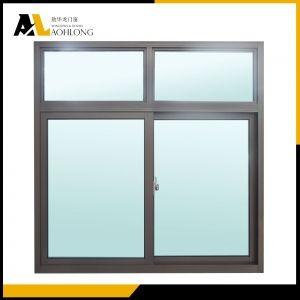 Two Transom Over Aluminium Frame Horizontal Sliding Double Glazed Windows