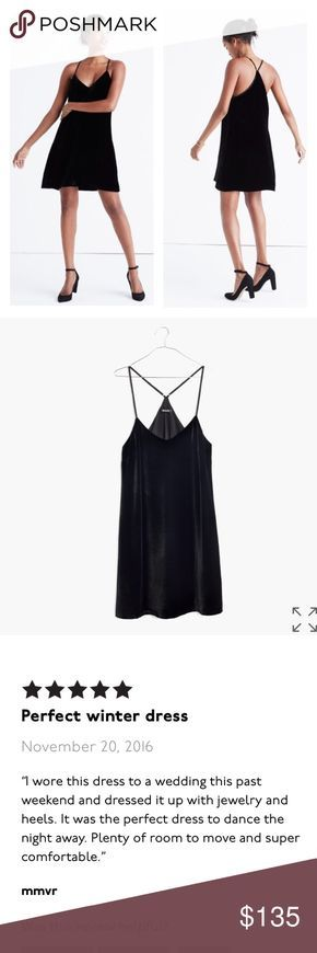 """NWT Madewell Velvet Slip Dress Made of rich velvet with a touch of silk, this little slip dress gives a definite nod to the '90s. Try it with a leather jacket and strappy flats (daisies in hair optional). Easy to dress up or down! ▪️Nonwaisted (shift silhouette). ▪️Falls 29"""" from highest point of bodice. ▪️Viscose/silk. ▪️Lined. ▪️Dry clean. ▪️Import. Madewell Dresses Strapless"""