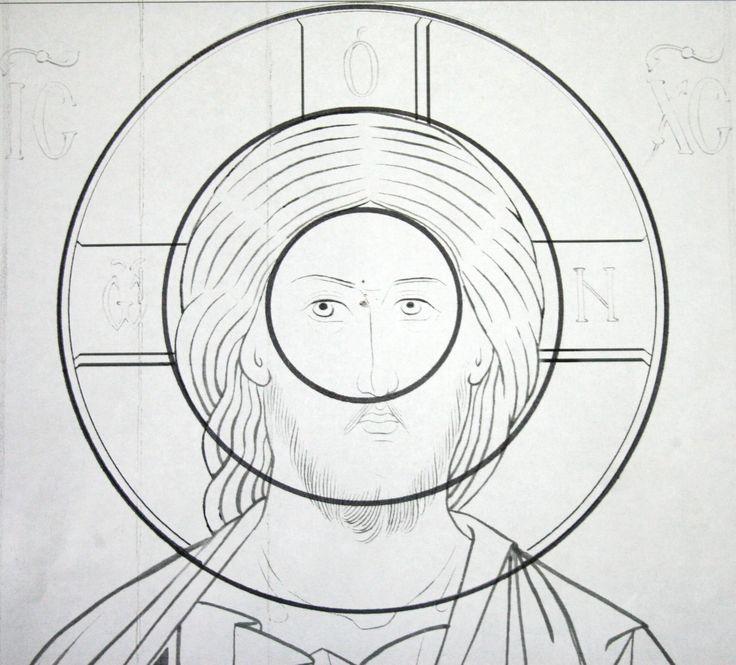 Teoría de los tres círculos en el dibujo de Rostro del Salvador.