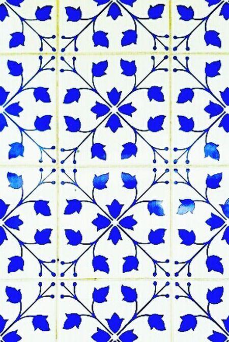 Flores azuis eternas. Tiles Recife, BRASIL Azulejos Ladrillos Blue Tiles