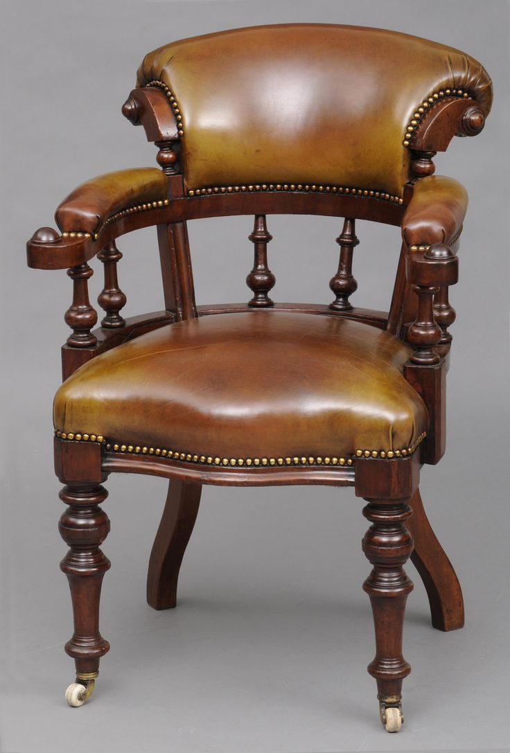 Rare set of twelve victorian solid oak leather antique chairs empire - Http Susansilverantiques Com Wp Content Uploads 6835 Victorian Deskshousehold Itemsdesk Chairsnailvintage Furnitureporcelainbrassproject