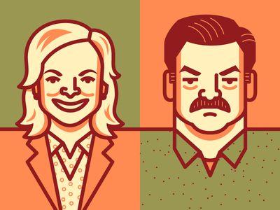Parks & Rec illustration/colour palettes