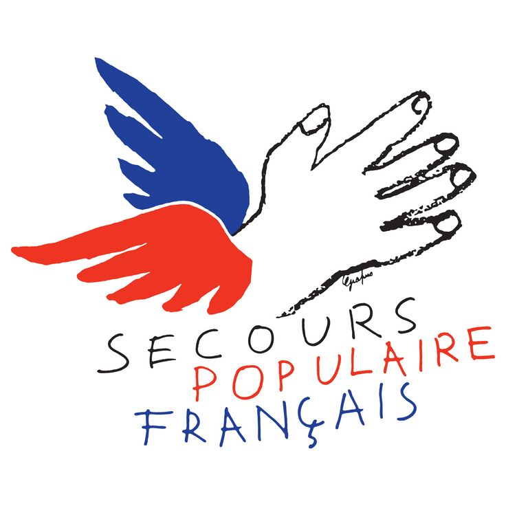 Secours populaire francais, logo by Grapus, 1981(poverty association in france)