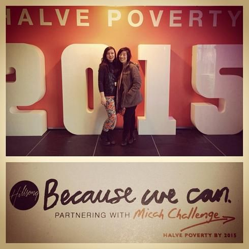 Hundreds of Halve Poverty by 2015 selfies like this one were taken at Hillsong Conference 2013, shared on social media and sent to Federal MPs.