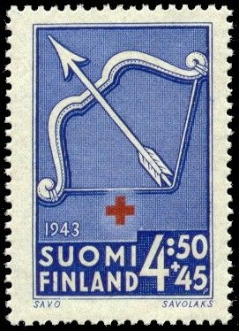 Postage stamp depicting the coat of arms of the Savonia province of Finland