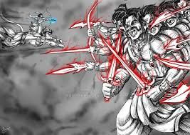 Rama fighting Ravana