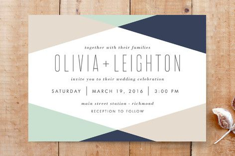 Minimal Mod Wedding Invitations by carly reed at minted.com