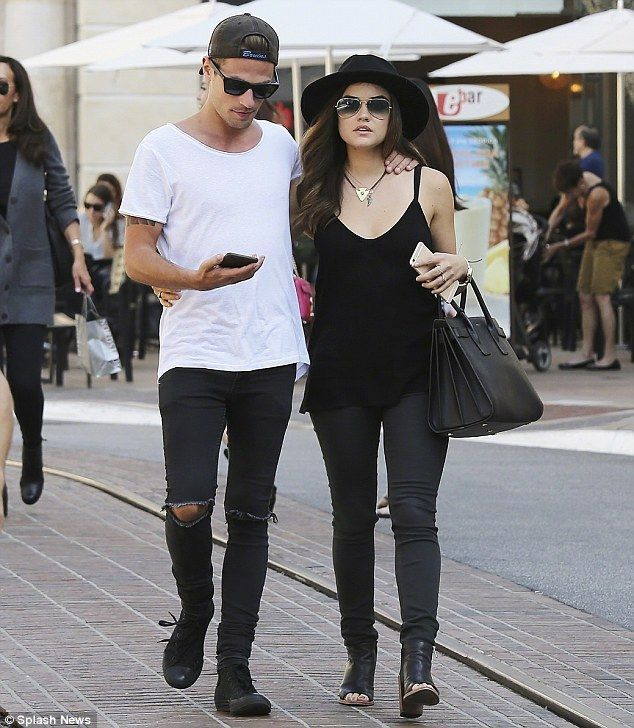 Lucy Hale and boyfriend Adam Pitts pick up two packs of healthy salad #dailymail