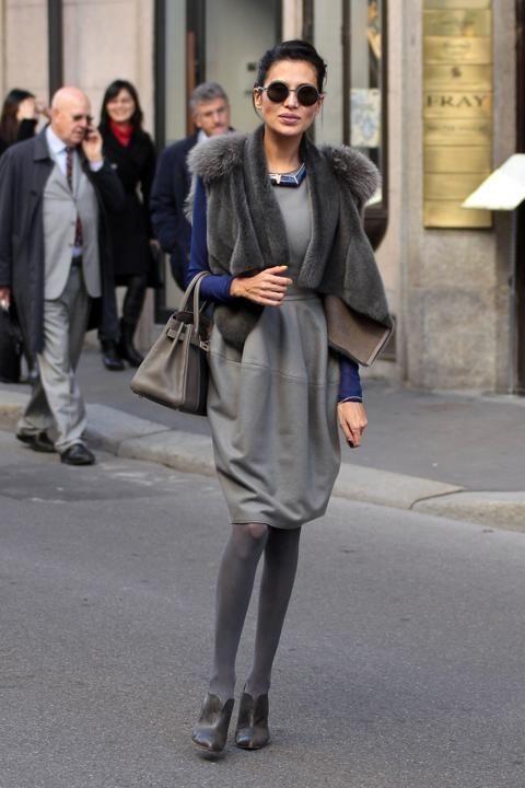 Goga Ashkenazi: quando l'eleganza è esaltata dai colori plumbei - Celebrity Fashion Trends