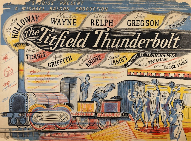 Edward Bawden - The Titfield Thunderbolt. This poster is most in keeping with the film title sequence. One of my all time favourite films.