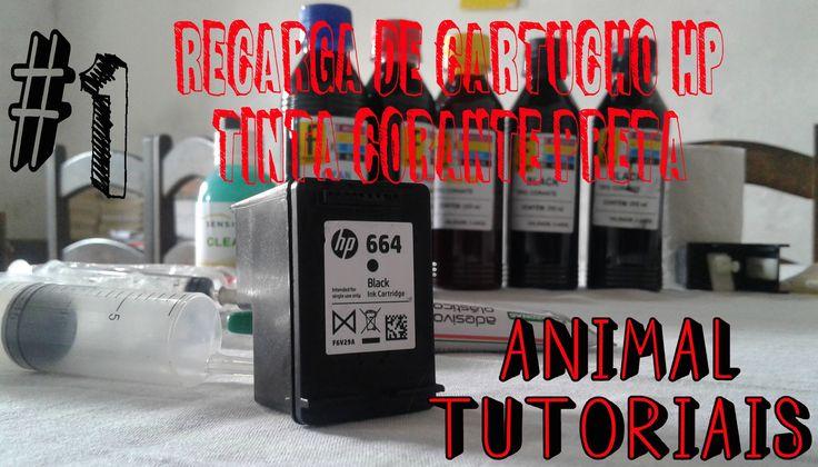 Como Fazer recarga de cartucho HP jato de tinta 664.