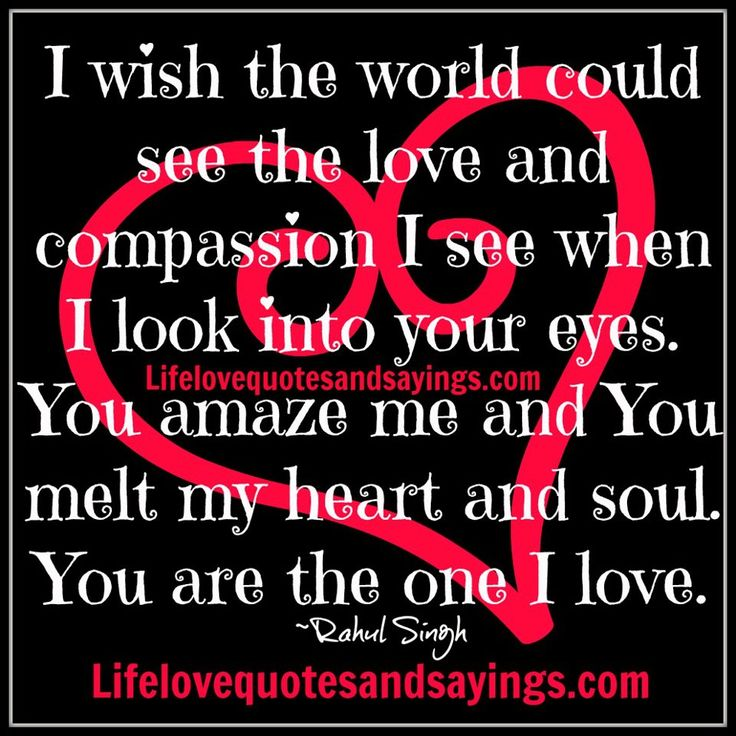 I Love Your Heart Quotes: I Wish The World Could See The Love And Compassion I See