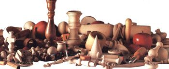 Parts and pieces for just about anything you want to make with wood.  Peg people, candle holders etc.