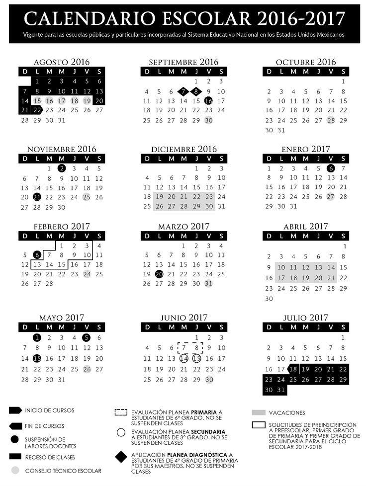calendario sep 200 dias 2016 - 2017