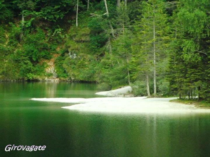 white beach, Lake Tovel, Val di Non