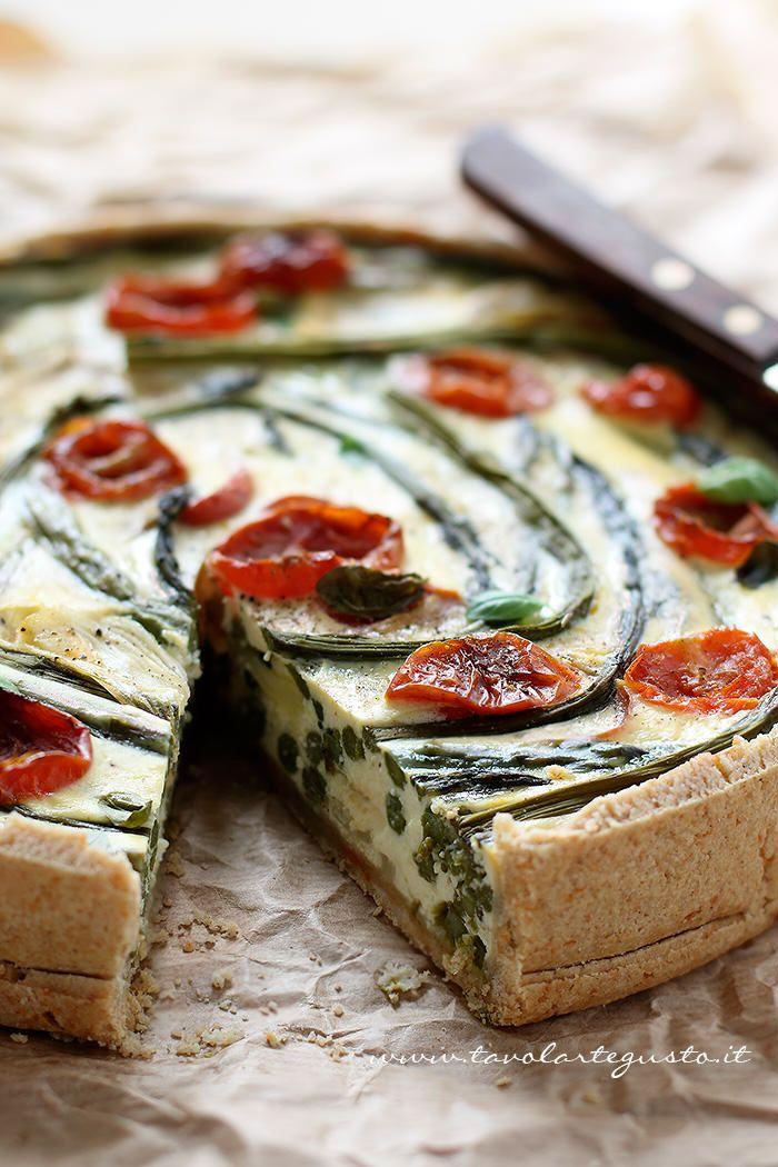 pie with asparagus | Torta salata con Asparagi - Ricetta Torta salata con Asparagi