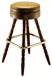 Wood Bar Stool - click image to enlarge