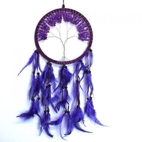 Purple Tree Of Life Dream Catcher