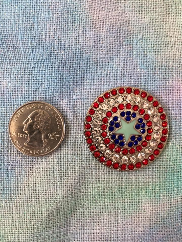 Captain Capt America Shield Needleminder (needle minder keeper magnet) (12.00 USD) by CassiesNeedleminderz