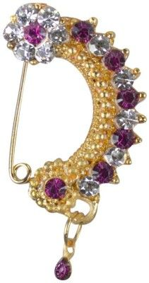 Pearl Paradise Cubic Zirconia Yellow Gold Plated Alloy Nose Ring Price in India - Buy Pearl Paradise Cubic Zirconia Yellow Gold Plated Alloy Nose Ring Online at Best Prices in India | Flipkart.com