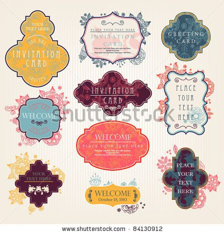 stock vector : Invitation cards with a floral pattern: Stockings Photos, Stockings Photography, Badges, Floral Patterns, Cards Ideas, Invitations Cards, Invitation Cards, Floral Patternשלט, Blog Marketing Ideas