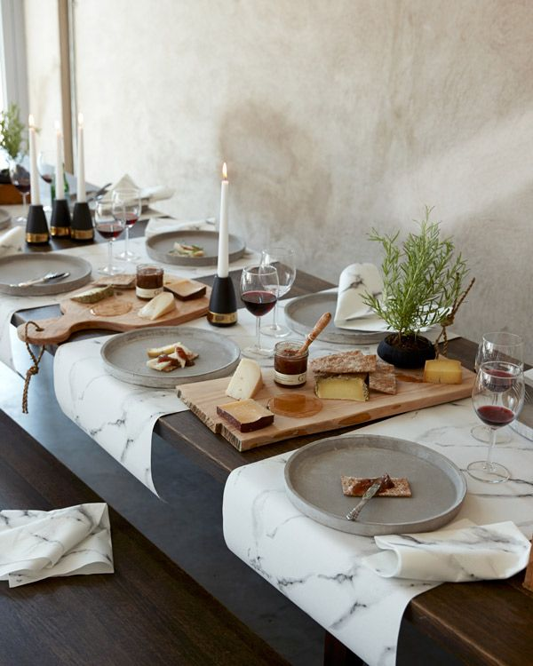 The table settings adds a great deal to the hole meal experience - Marble is a beautiful, clean and fresh design and creates a refreshing mood to your table.