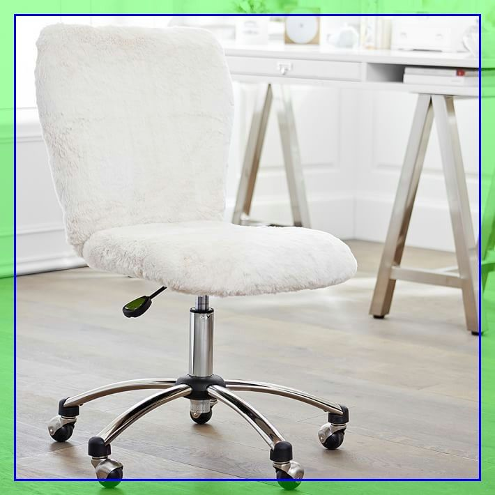 82 Reference Of Desk Chair White Fluffy In 2020 Desk Chair Comfy White Desk Chair Swivel Chair Desk