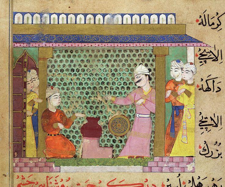 Sultan Ghiyath al-Din Tughluq supervising the preparation of medicines