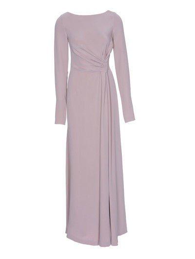 Asymmetric maxi dress. Free sewing pattern. Similar to model #112 Burda 12/2012