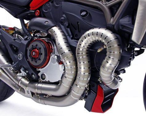 "Racing Cafè: Moto Corse Titanium Exhaust ""Due Gemelli Dvxi"" for Ducati Monster 1200"