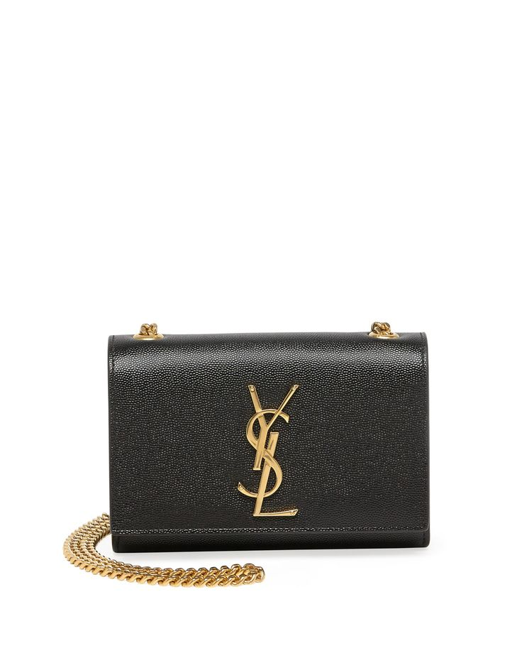 Saint Laurent Monogramme Leather Crossbody Bag, Black - Neiman Marcus