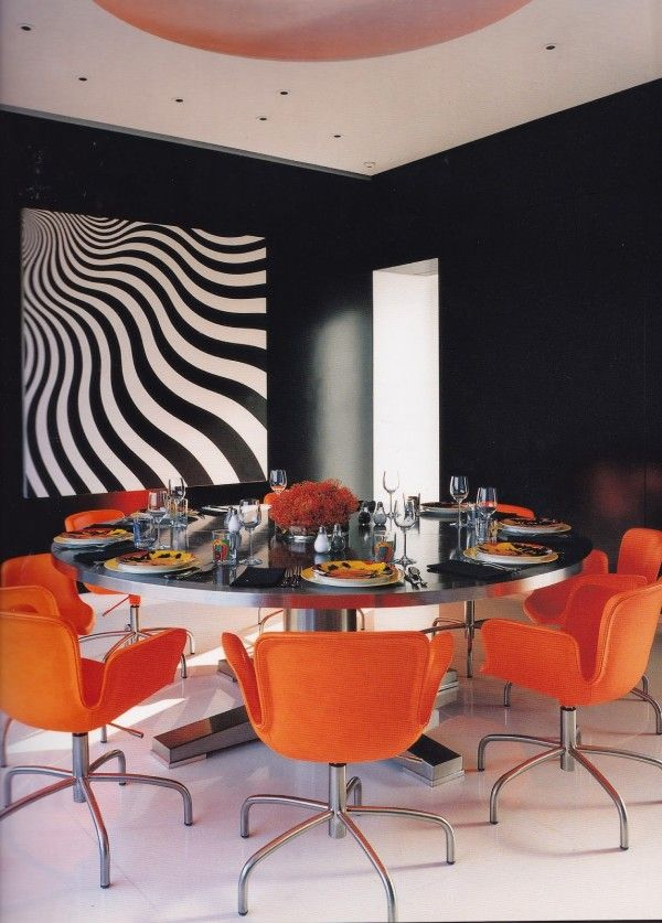 Pop Glam Dining Room In Lisa Perrys New York Apartment Designed By Tony Ingrao