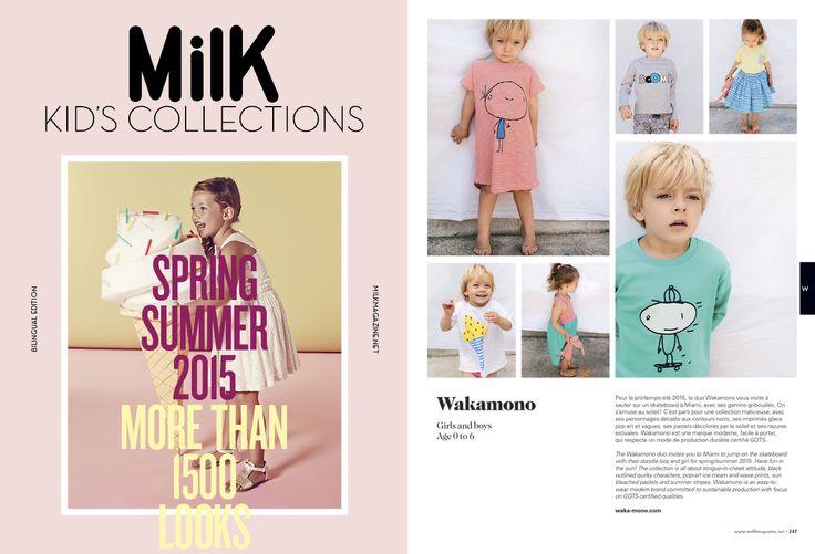 #wakamono #SS15 #milkmagazine #organictextile
