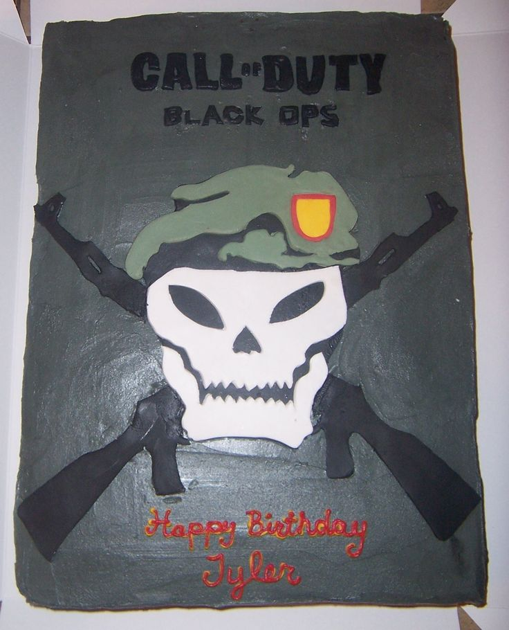 Call Of Duty Birthday Cake   call of duty black ops