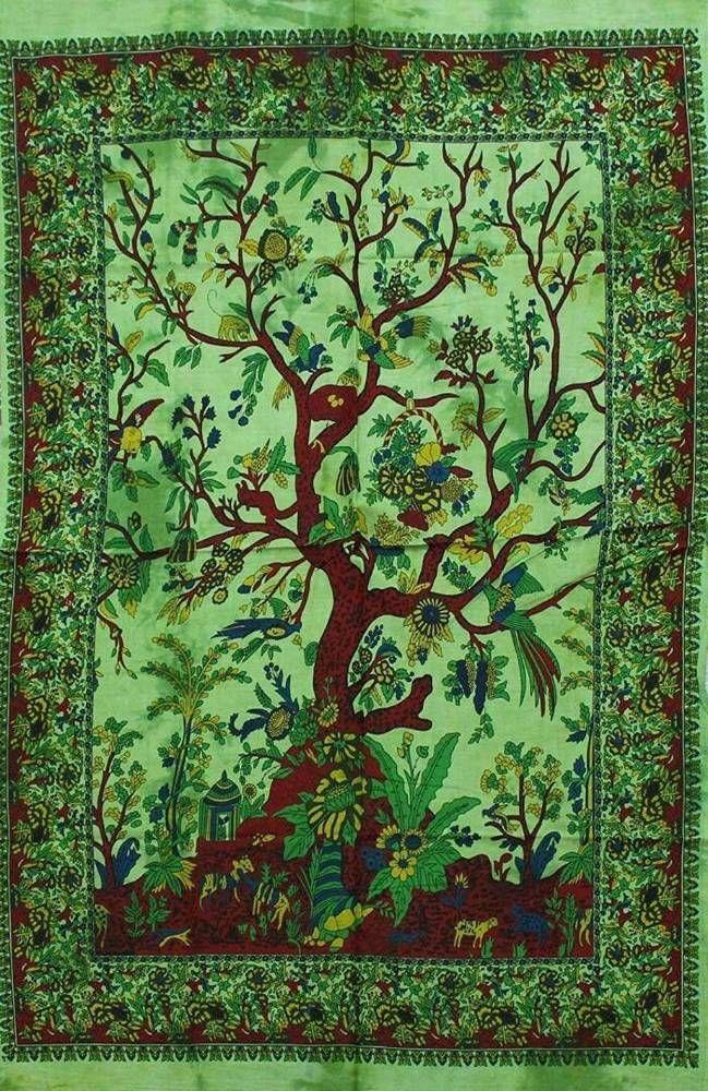 Mandala Tree of life Reggae Star Music Poster Fabric Cotton Print Art Wall Decor #Unbranded #ArtDecoStyle