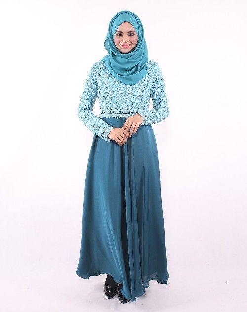 Baju Gamis Brokat 3 Busana Muslim Pinterest