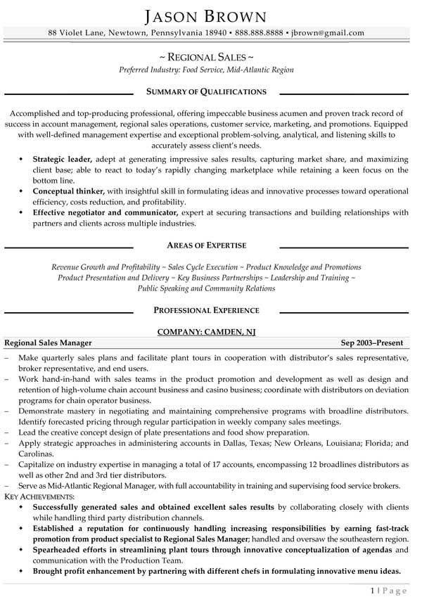 44 best Resume Samples images on Pinterest Resume examples, Best - regional sales sample resume