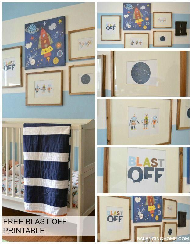 Best 25 nursery gallery walls ideas on pinterest for Robot bedroom