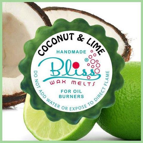 With the refreshing smell of lime and the smooth aroma of coconut, this wax melt conjures the thoughts of a warm sunny day with soft breezes, a sandy beach and a favourite cocktail at a dreamy tropical escape