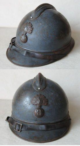 WWI-FRENCH-ADRIAN-HELMET-MODEL-1915-M15-INFANTERIE-INFANTRY