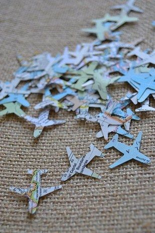And confetti for cutouts: | 27 Travel-Inspired Wedding Ideas You'll Want To Steal