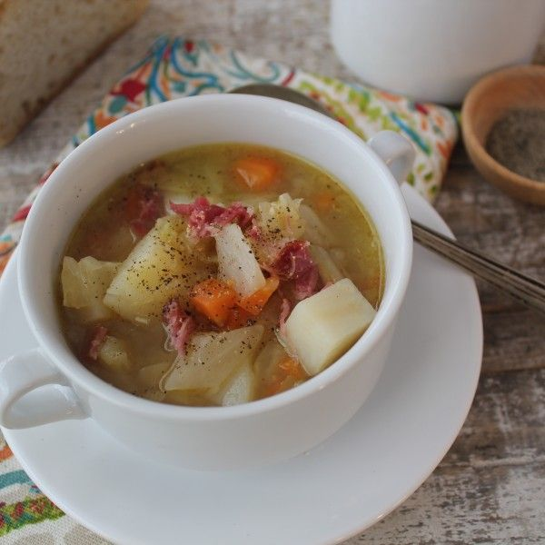 This Ham Hock And Cabbage Soup is souper hearty and delicous. From www.Emerils.com