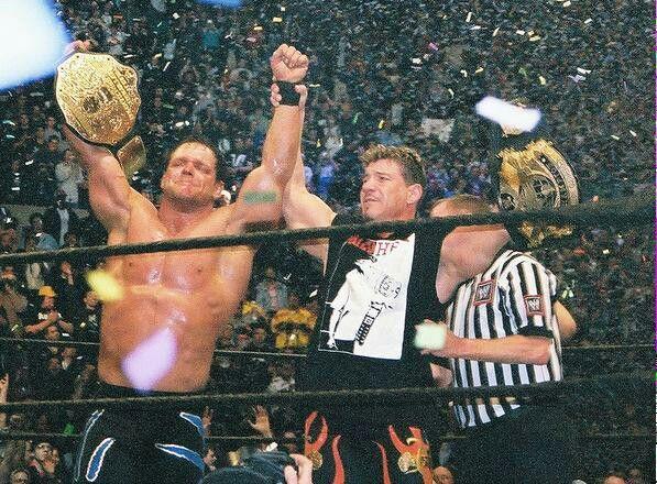 WrestleMania XX - Benoit & Guerrero celebrate title win.