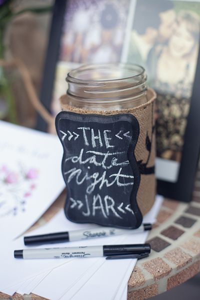 "Bridal Shower Game: Make a ""date night"" jar with suggestions!"